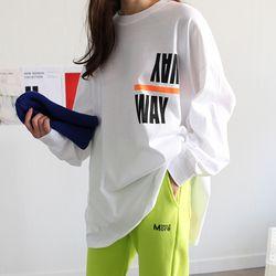 웨이 박시핏 티셔츠