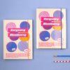 [마스킹테이프 증정] A5 하드 육공 모눈 노트 - 후르츠시리즈-05 Blueberry 블루베리