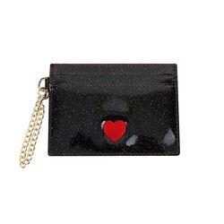홀로그램 체인 하트 카드지갑 블랙(AG2C9213OABB)