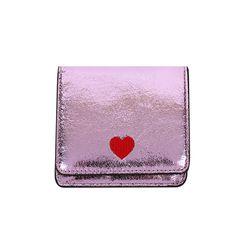 하트 글리터 반지갑 핑크(AG2H9211OAPP)