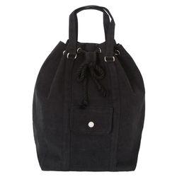 A0255 블랙 캔버스 버킷 백팩