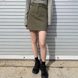 closer button mini skirt (s m)