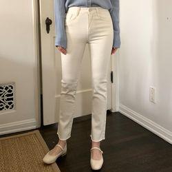 SHALOM basic straight cotton pants (s m l)