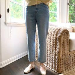 study straight denim pants (s m)