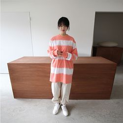 washing stripe tee (3colors)