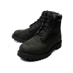 팀버랜드 6IN PREM NUBUCK BLACK (GS) 12907