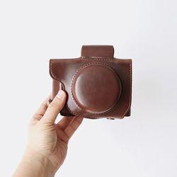 캐논 Canon G1X MARK3 케이스 가방 파우치 넥스트랩 세트 초코
