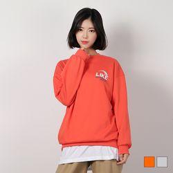 2452 모드 라이크 맨투맨 티셔츠 (2colors)