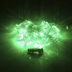 LED 100구 연결용 투명선 녹색 트리 장식