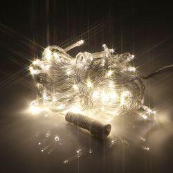 LED 100구 연결용 투명선 전구색 트리장식 용품