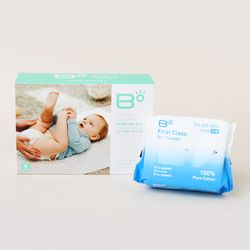 신생아 패키지 : 순면건티슈 10팩 + 일회용 기저귀교환매트 2BOX