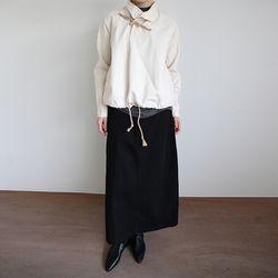 basic long cotton skirt (3colors)