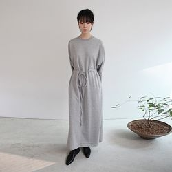 easy string long dress (3colors)