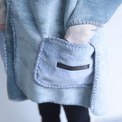 XL망토 겨울 커플 극세사 이중 양털 담요 (남성용)