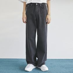 retro wide washing denim pants (2 color) - men
