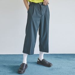semi wide crop slacks (2 color) - men