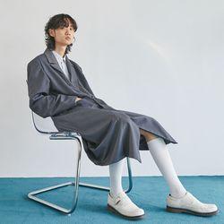 stripe mix double long coat (2 color) - men