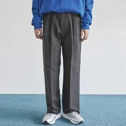straight pintuck long cotton pants (2 color) - men