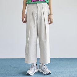 pintuck cotton crop pants (3 color) - men