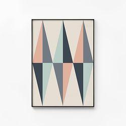 메탈 인테리어 북유럽 포스터 액자 다이아몬드 패턴 [대형]