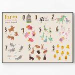 메탈 학습 포스터 동물 그림 아이방 액자 동물 숫자 [대형]