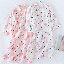 무디벚꽃 면소재 유카타 원피스 잠옷