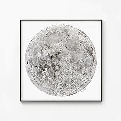메탈 북유럽 포스터 인테리어 아이방 그림 달 액자 보름달