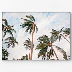 메탈 모던 식물 풍경 그림 인테리어 액자 야자수 바람 [대형]