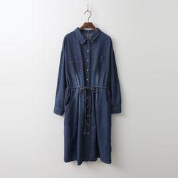 Pocket Denim Shirts Dress
