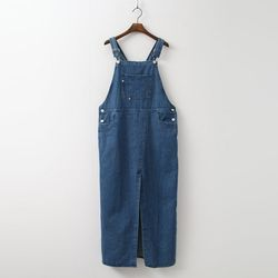 Denim Overalls Long Dress