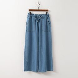 Banding Wide Jeans