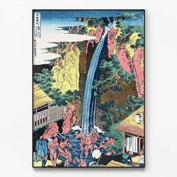 메탈 일본 명화 풍경 그림 액자 가츠시카 호쿠사이 3 [대형]