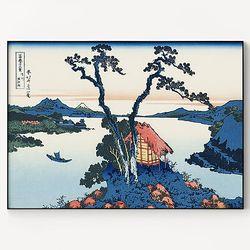 메탈 일본 판화 풍경 그림 액자 가츠시카 호쿠사이 5 [대형]