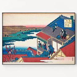 메탈 일본 동양화 풍경 그림 액자 가츠시카 호쿠사이 6 [대형]