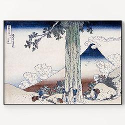 메탈 일본 명화 풍경화 그림 액자 가츠시카 호쿠사이 7 [대형]