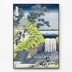 메탈 일본 명화 풍경 그림 액자 가츠시카 호쿠사이 8 [대형]