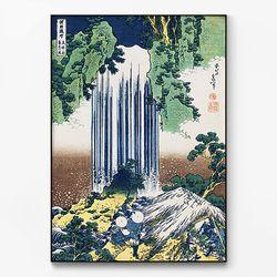메탈 일본 명화 아트 그림 액자 카츠시카 호쿠사이 10 [대형]