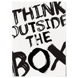 중형 패브릭 포스터 F252 레터링 액자 Think outside the box