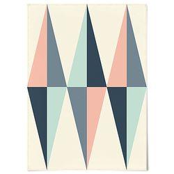 중형 패브릭 천 포스터 F253 태피스트리 다이아몬드 패턴