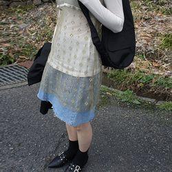 picnic mini denim skirt