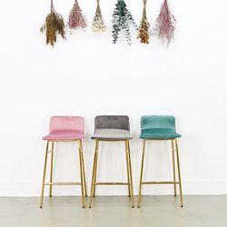 샤이니 골드벨벳 바의자