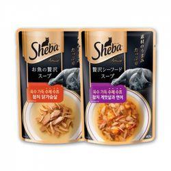 쉬바 육수 가득 수제 수프 40g (파우치) 2종