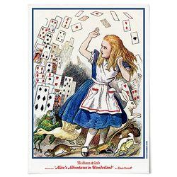 중형 패브릭 포스터 F256 그림 천 액자 이상한 나라의 앨리스 C