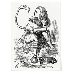 중형 패브릭 포스터 F257 빈티지 액자 이상한 나라의 앨리스 D