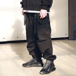 매스노운 D-링 이지 카고 스트링 팬츠 MSNCP001-BK
