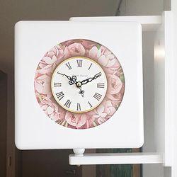쏘모던 인테리어 삼면벽시계 화이트
