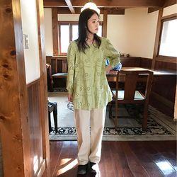 house wide cotton pants (3colors)