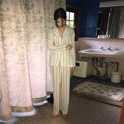 cozy stripe pajamas