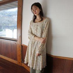 square subdued flower dress (2colors)