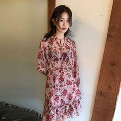 rose flower dress (2colors)